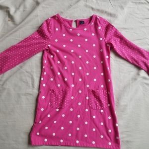Adorable Baby Gap pink and white polka dotted top